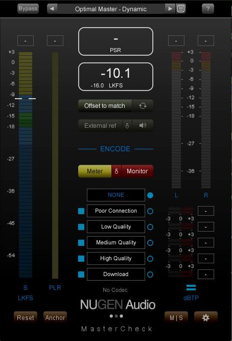 Nugen Audio MasterCheck plug-in daw meter loudness