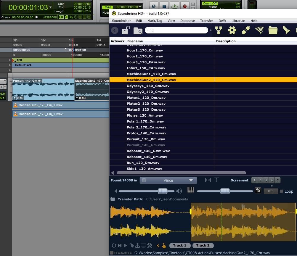 Soundminer HD Plus sound design software