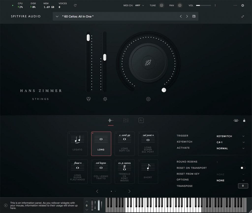 Hans Zimmer Strings sample library player virtual instrument archi