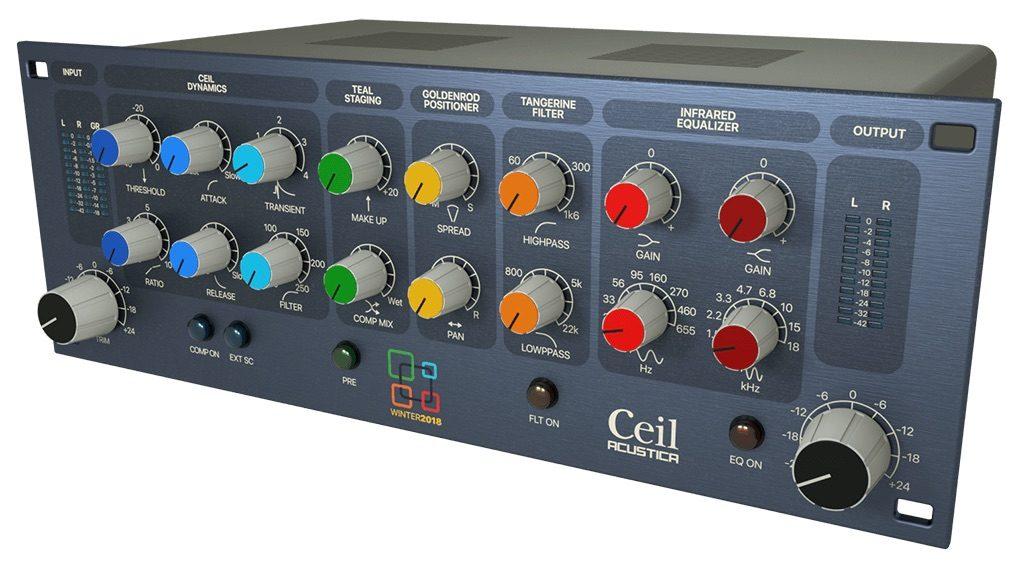 Acustica Audio Ceil channel strip free plug-in gratis eq comp