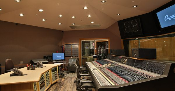 Capitol studio B news studio pro rec mix analog hardware pmc speaker audiofader