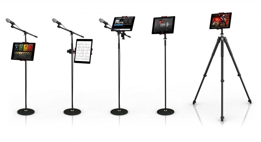 Ik Multimedia iKlip 3 deluxe mogar music supporto mic studio live tablet