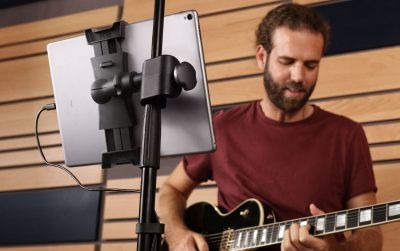 Ik Multimedia iKlip 3 mogar music supporto mic studio live tablet audiofader