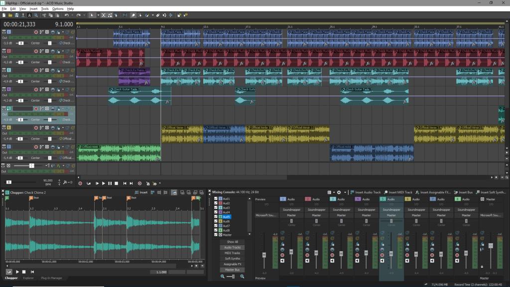 Magix ACID Music Studio 11 daw software music mix rec edit audiofader