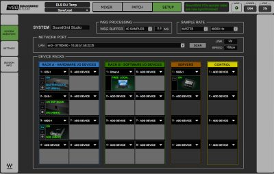 Speciale Waves Soundgrid digigrid software live studio pro audio dsp audiofader
