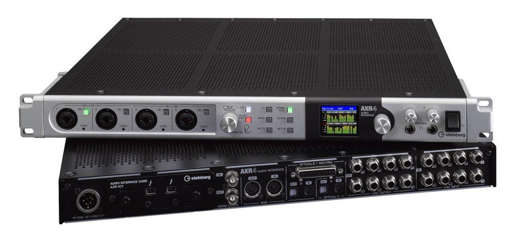 Steinberg AXR4 interfaccia audio pro thunderbolt hardware DAW audiofader