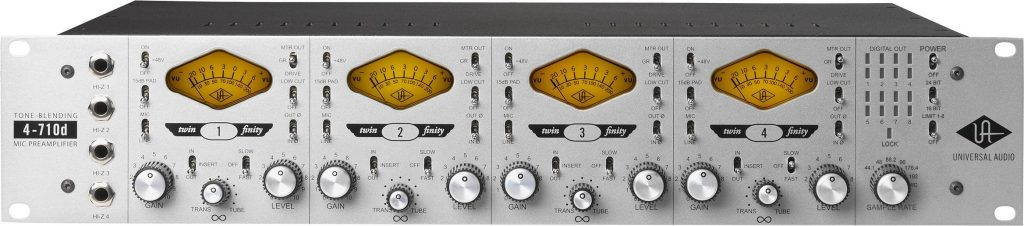 Universal Audio 4-710d test hardware pre outboard analog audiofader