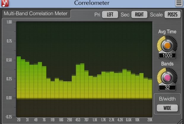 Voxengo Correlometer plug-in audio software virtual mix mastering audiofader