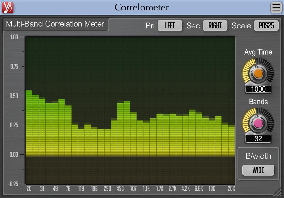 Voxengo Correlometer plug-in audio software virtual mix mastering