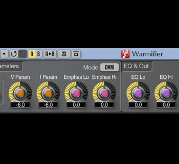 Voxengo Warmifier plug-in audio daw virtual harmonix exciter valve tube audiofader