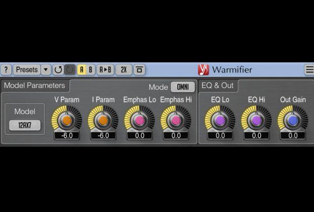 Voxengo Warmifier plug-in audio daw virtual harmonix exciter valve tube audiofader