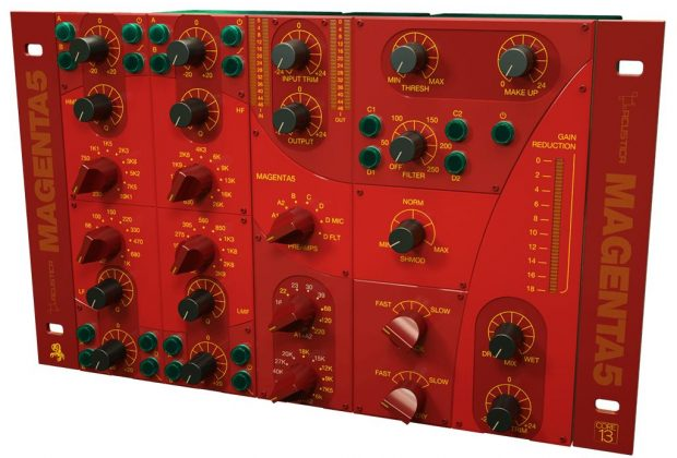 Acustica Audio Magenta 5 pro audio studio mix master rec virtual plug-in channel strip audiofader
