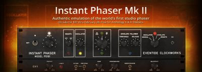 Eventide software Instant Phaser mkII virtual plug-in audio fx mix audiofader