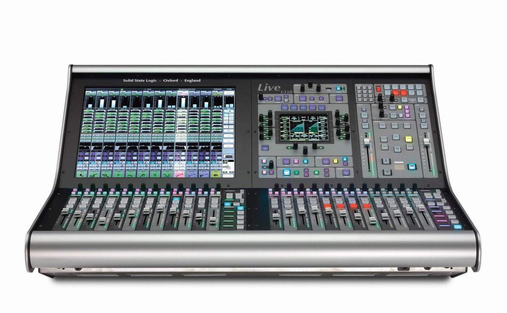 SSL Live l350 console mixer hardware hybrid digital analog modsart audiofader