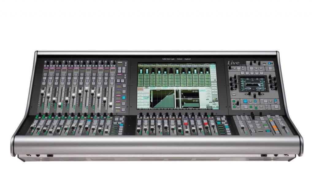 SSL Live l550 console mixer hardware hybrid digital analog modsart audiofader