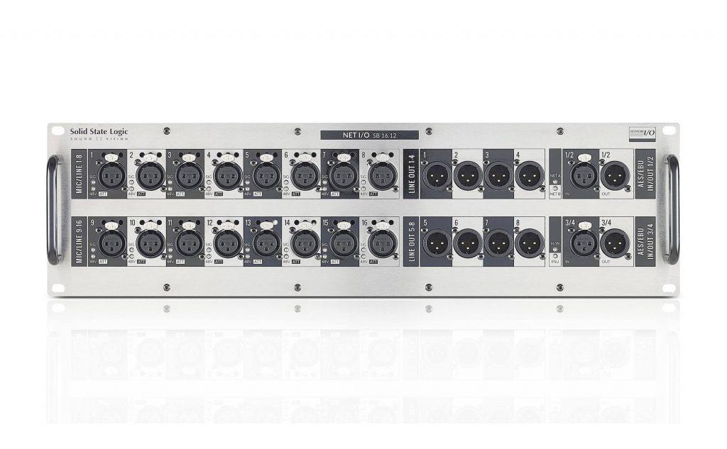 SSL Live Stagebox SB16.12 console mixer hardware hybrid digital analog modsart audiofader
