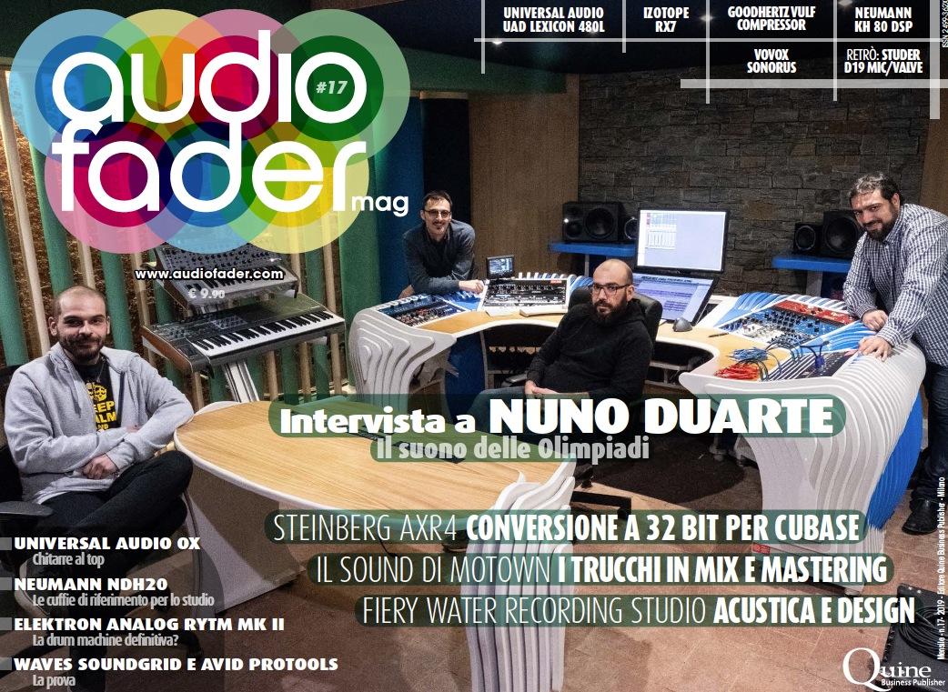 Audiofader #17 Motown, Waves SoundGrid e Avid Pro Tools, Steinberg AXR4
