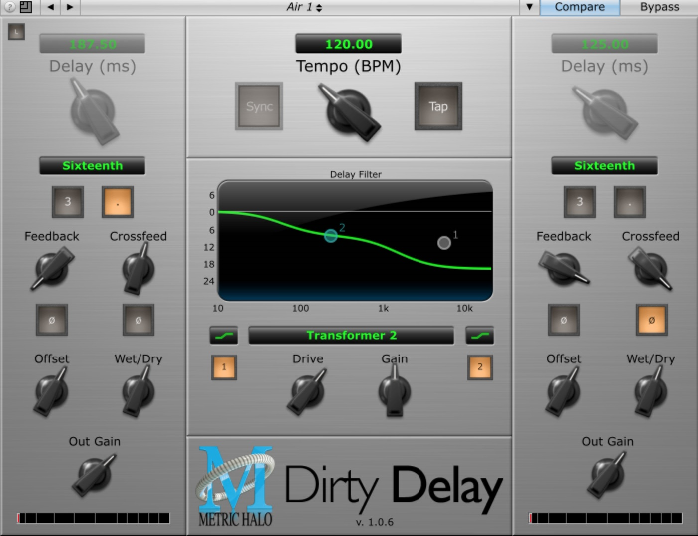 Metric Halo Dirty Delay daw software plug-in processing itb audiofader