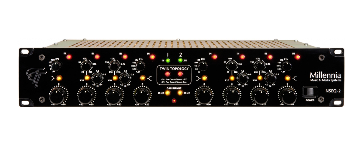 Millennia NSEQ-2 hardware analog outboard eq parametric mix master audiofader