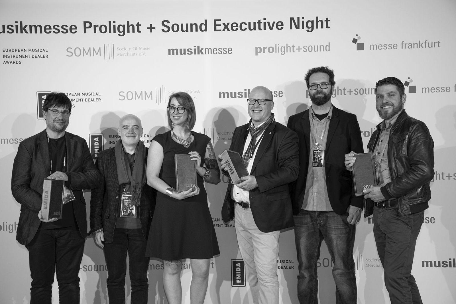 Musikmesse Emida 2018 Winners eventi audiofader