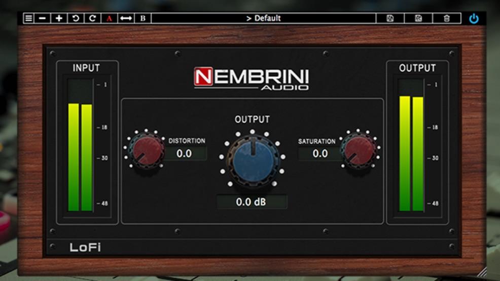 Nembrini LoFi plug-in free gratis freeware mix pro audio audiofader