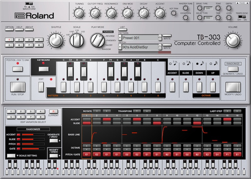 RolandCloud TB-303 virtual instrument roland prod bass synth strumenti musicali