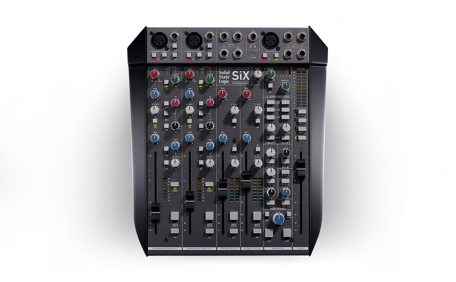 SSL SiX hardware analog mixer studio live midiware audiofader
