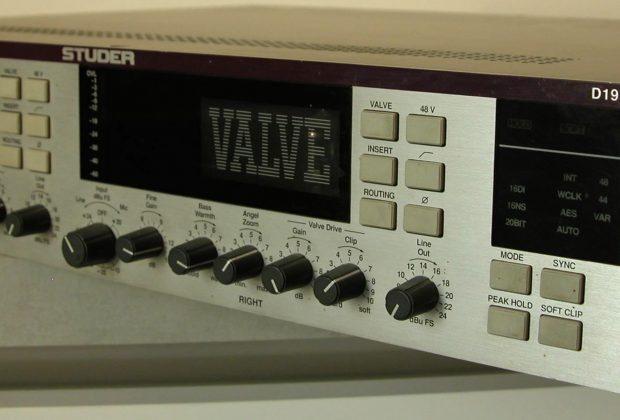 Studer D19 retro hardware digital outboard studio pro rec pre valve tube test audiofader