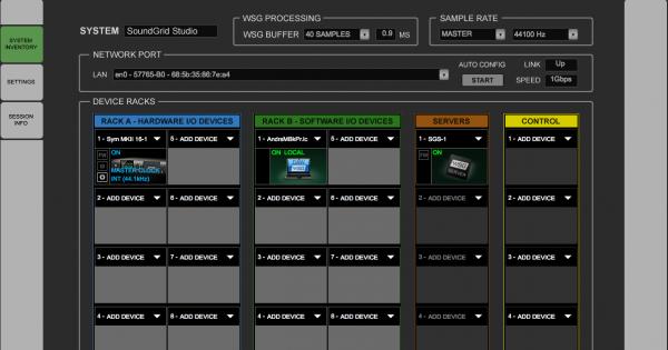 Waves SoundGrid Setup&Performance hardware software speciale audiofader