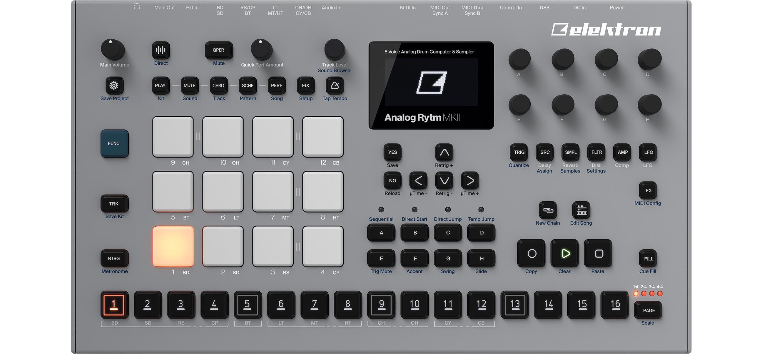 elektron Analog Rytm mkII hardware analog drum machine soundwave producer drumkit drums strumenti musicali audiofader