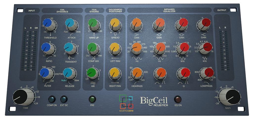 Acustica Audio Big Ceil software plug-in audio virtual mix itb daw studio audiofader