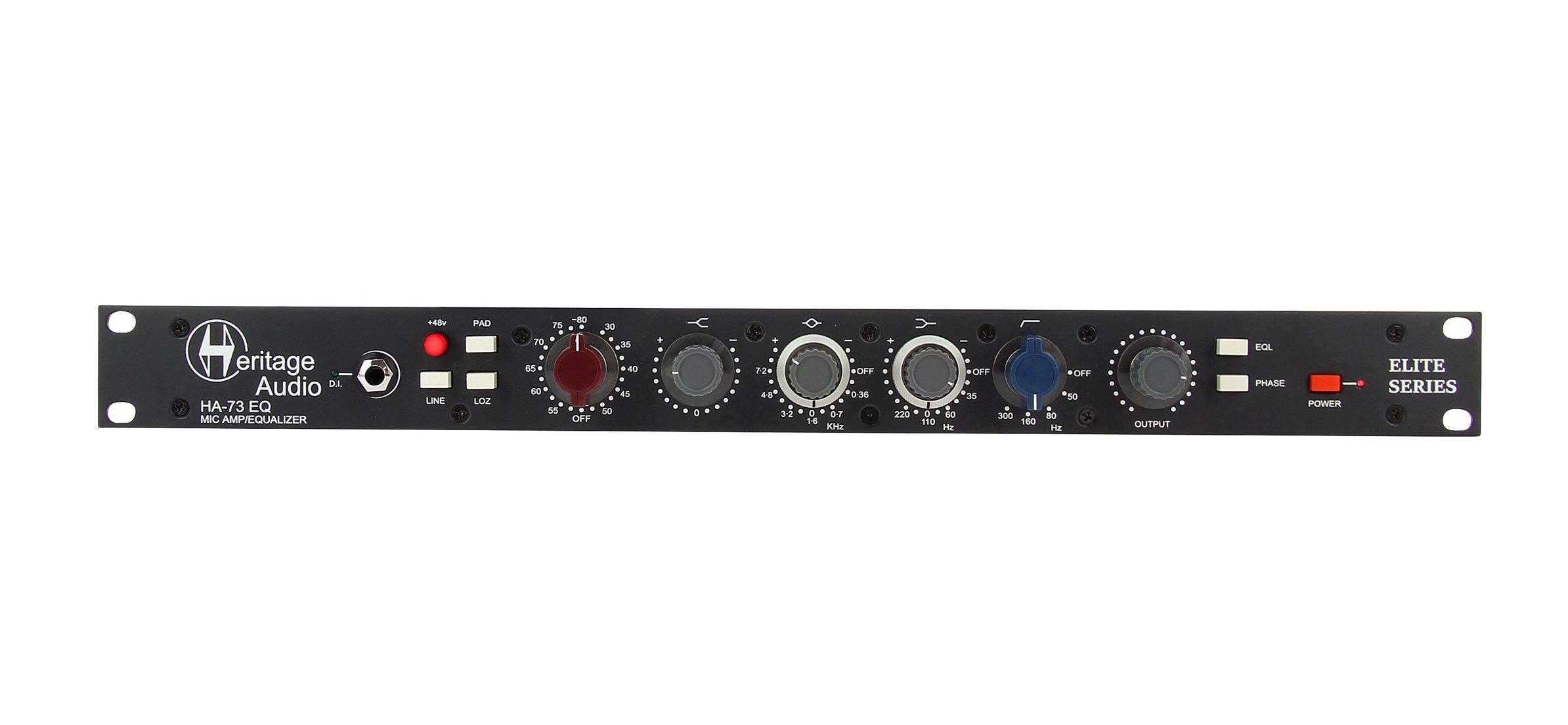 heritage audio pre eq outboard hardware midi music test audiofader
