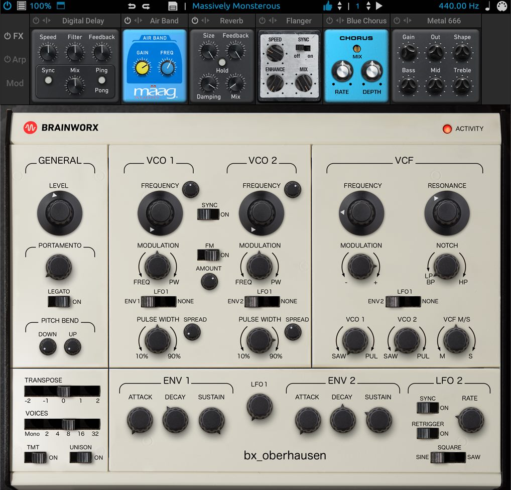 brainworx bx_oberhausen virtual instrument synth oberheim plugin alliance audiofader