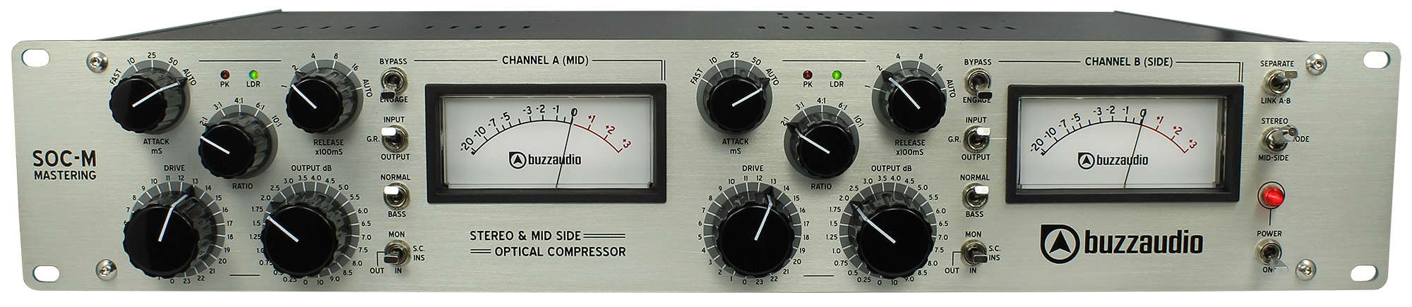 Buzz Audio SOC-M comp opto ottico mastering outboard hardware analog audiofader
