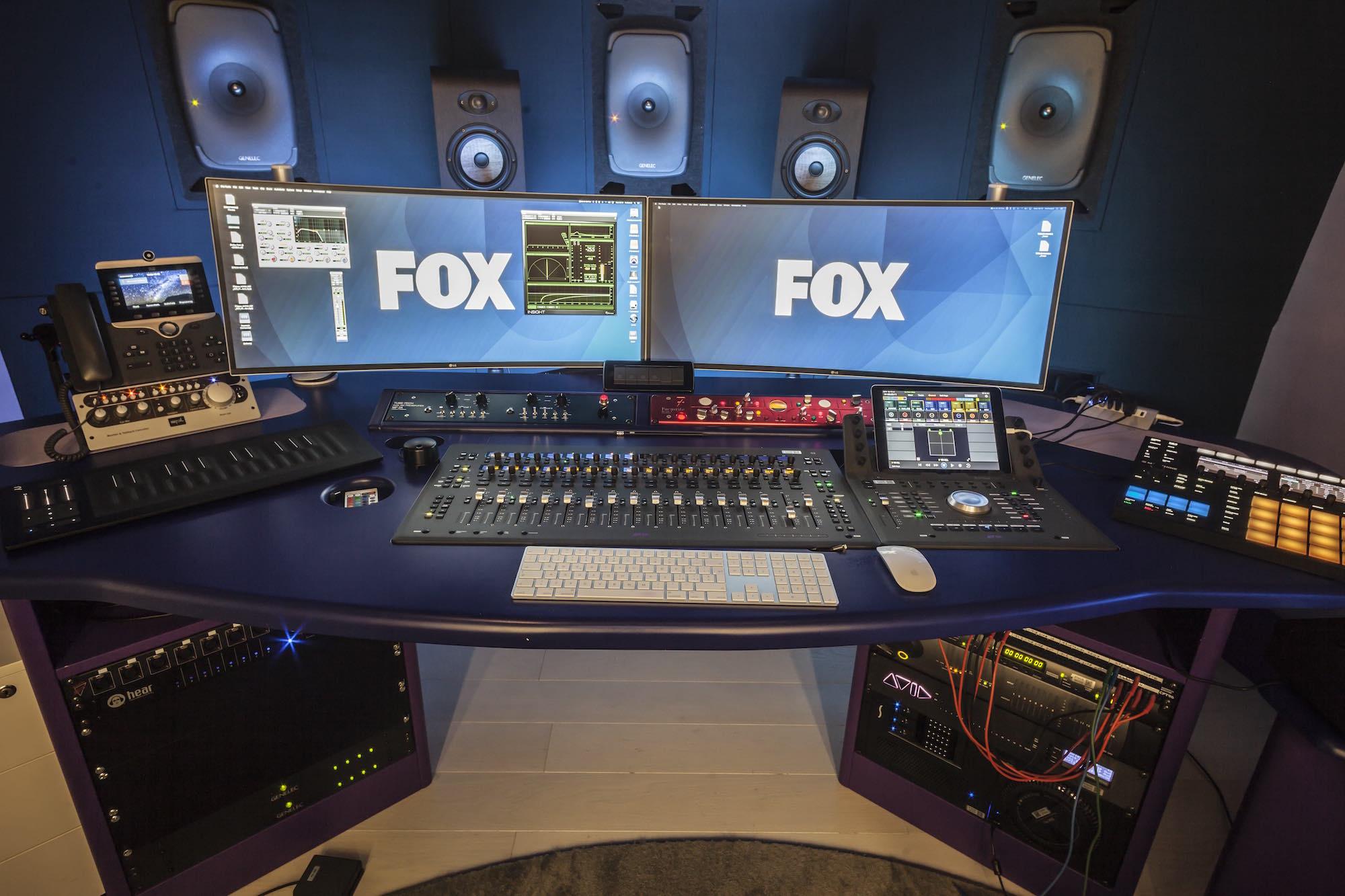 FOX studi tv intervista pro audio audiofader