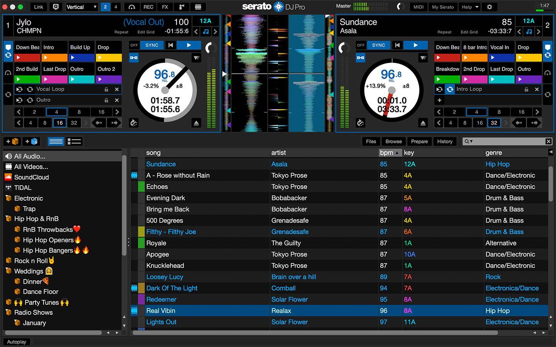 Roland DJ-202 hardware controller dj console test audiofader