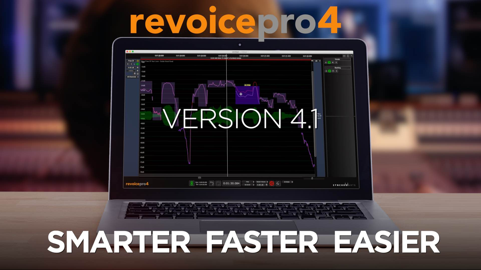 Synchro Arts ReVoicePro 4.1 update aggiornamento software plug-in studio daw virtual audiofader