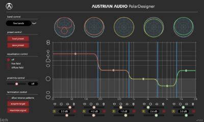Austrian Audio PolarDesigner plug-in audio software virtual daw fx mic oc818 audiofader