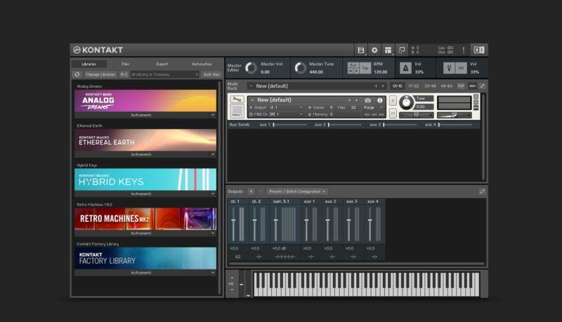 Kontakt 6 NI Komplete 12 bundle native instruments software plug-in virtual instruments midi music audiofader