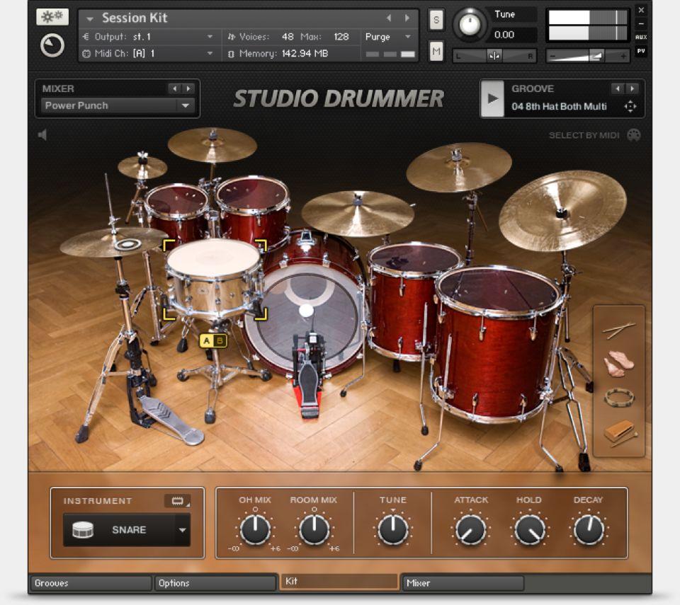 Studio Drummer NI Komplete 12 bundle native instruments software plug-in virtual instruments midi music audiofader