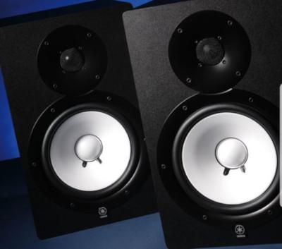 Yamaha HS80M monitor studio pro audio rec mix test audiofader
