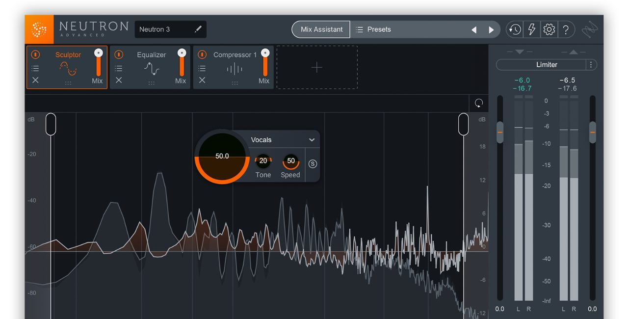 iZotope Neutron 3 plug-in audio software mix daw itb virtual audiofader
