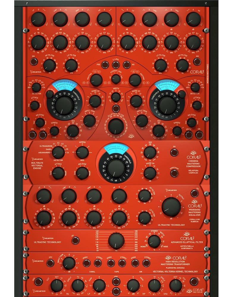 Acustica Audio Coral2 bundle suite plug-in software mastering mix itb virtual audiofader