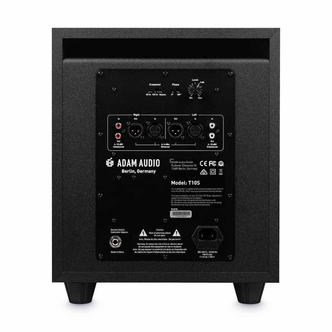 Adam Audio T10S sub mix monitor pro studio midi music audiofader
