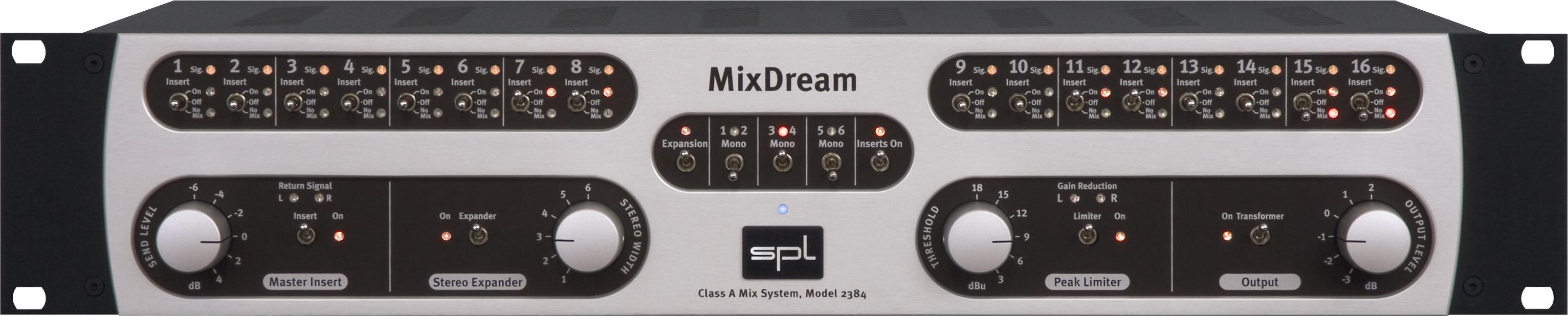 SPL MixDream analog sum sommatore hardware outboard pro studio midi music mix mastering audiofader