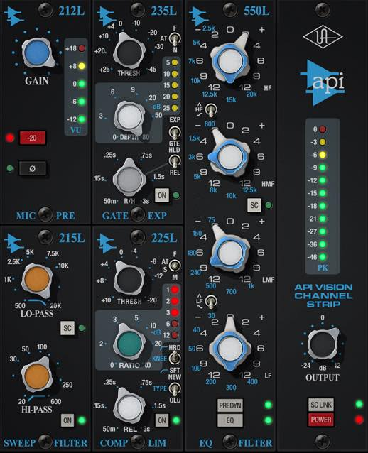 Universal Audio UAD API Vision Channel Strip Tutorial Mix Voce UAD universal audio mixing itb software virtual plug-in audiofader