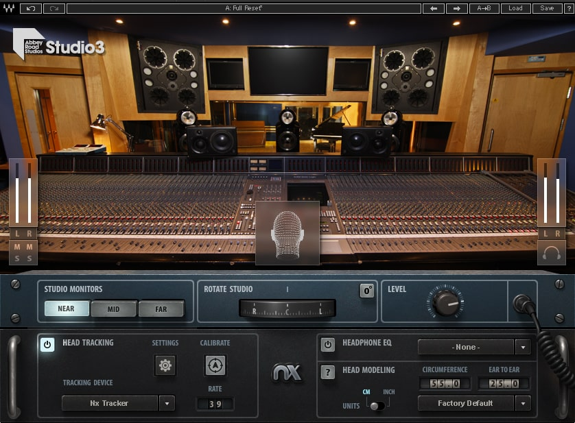 Waves Abbey Road Studio 3 plug-in software daw audio pro control room headphones audiofader