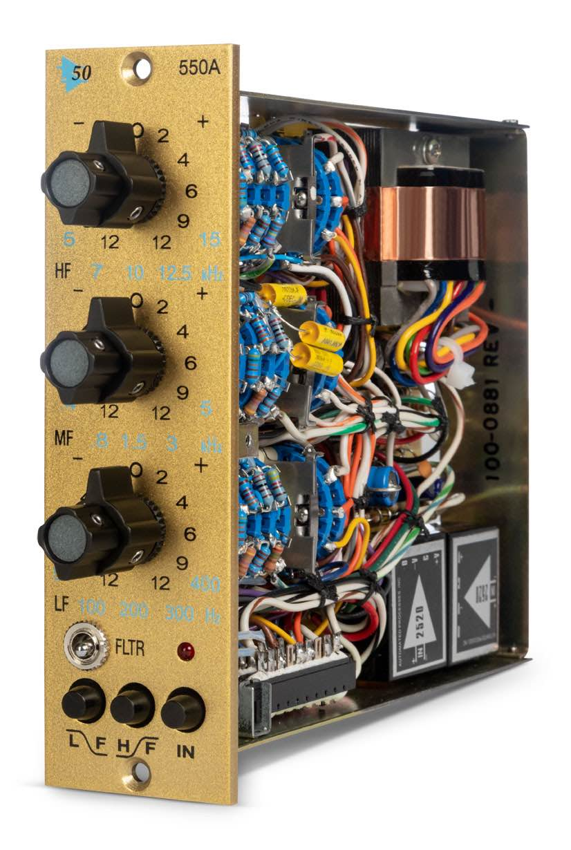 API 550a 50th anniversary edition eq digiland outboard rack analog audiofader rec mix studio