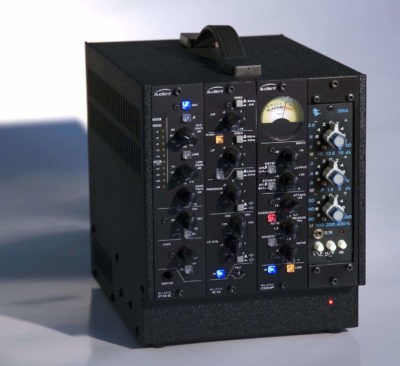 Audient Black series hardware outboard rack audiofader