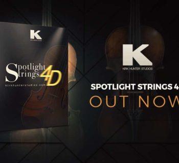Kirk Hunter Studios Spotlight Strings 4D virtual instrument sample library kontakt orchestra score producer audiofader